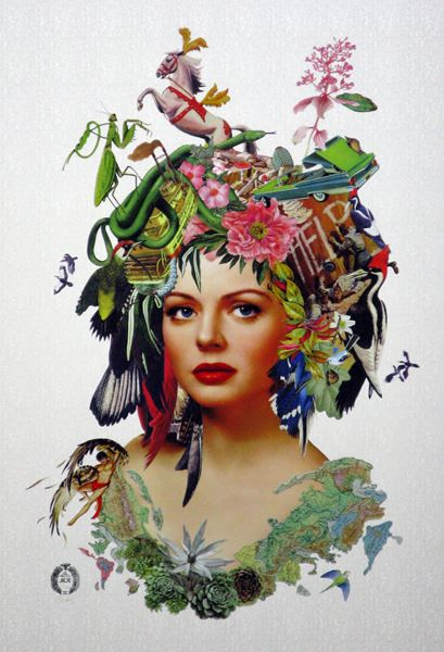 Maria Rivans_Angelique_Giclee and screenprint with iridescent green and spot varnish_64x89cm_2015
