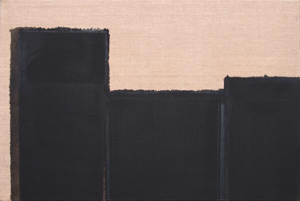 Bunt Umber & Ultramarine Blue / Oil on Linen / 61 x 91 cm / 1997