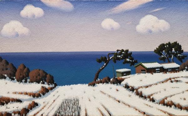 겨울바다 / Oil on Canvas / 80 x 130 cm / 2011