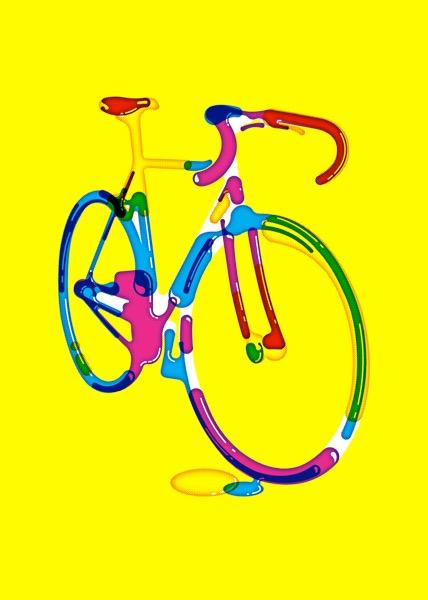 Bike / Indigo Print / 70 x 50 cm / 2017