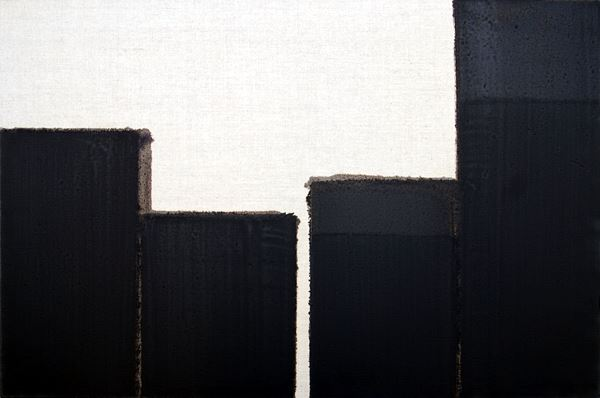 YUN HyongKeun_Burnt Umber & Ultramarine Blue_Oil on Linen_61x91cm_1999