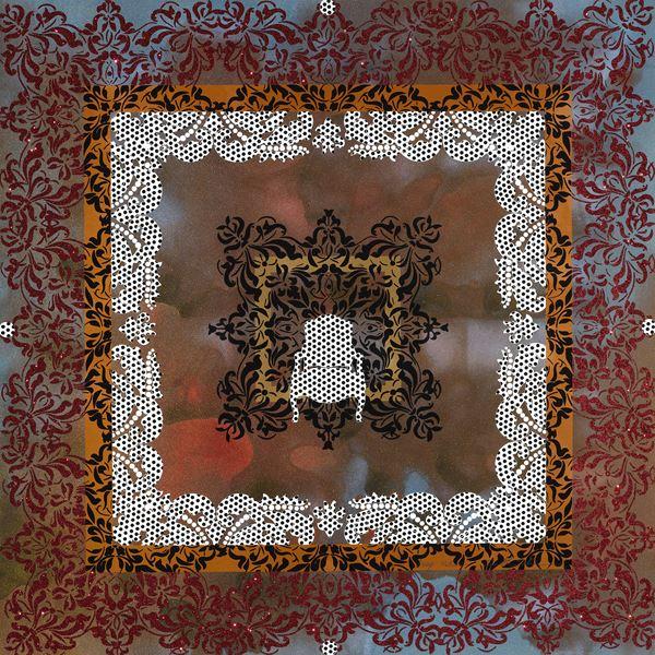 Jinah Sohn_Deep inside_100x100cm_Silk screen, sparkle powder, hand painting on paper_2012