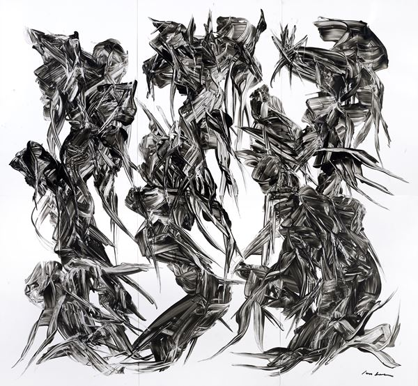 Untitled, Hand painted, Korean Traditional ink on paper, 218x236.4cm, 2016