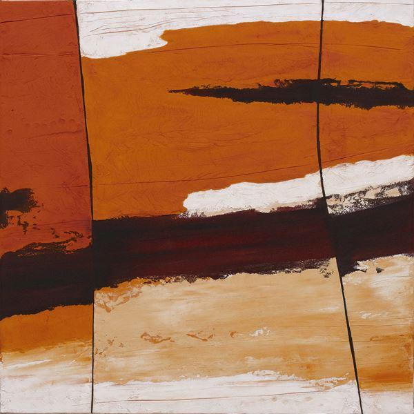 Rockface Strata Kimberley #2, 2013, Sand, pigment & acrylic on canvas,  76x76cm