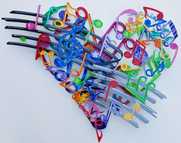 Musical Heart_63x82cm_Acrylic on Steel