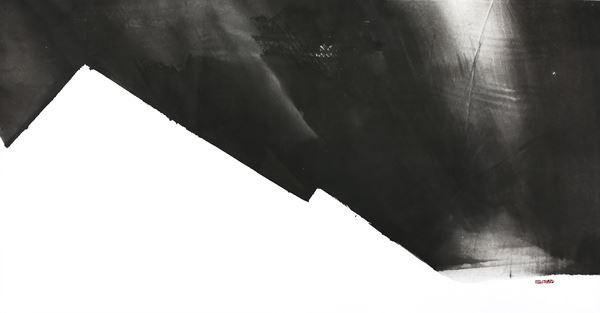 Ours Himalayas, Korean Ink on Korean Paper, 74x142cm, 2016