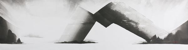 Ours Himalayas, Korean Ink on Korean paper, 75x284cm, 2016