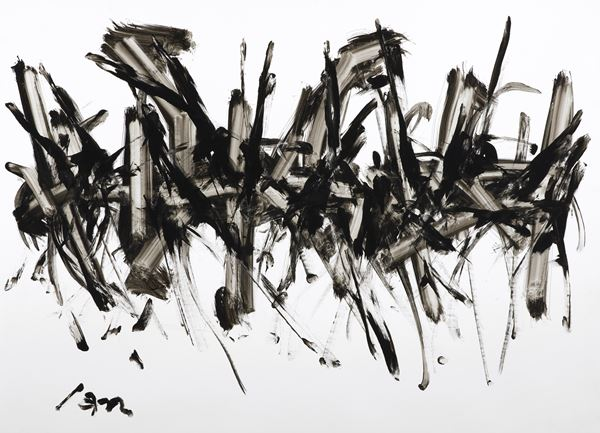 Untitled, 78x109cm, Hand painted, Korean Traditional ink, on paper, 2016