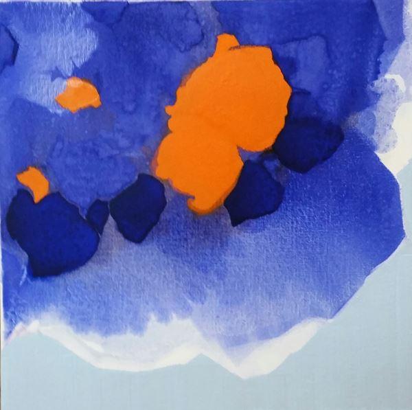 Symphony of the Spirit 2, Pigment, Oil on Canvas, 50x50cm, 2015