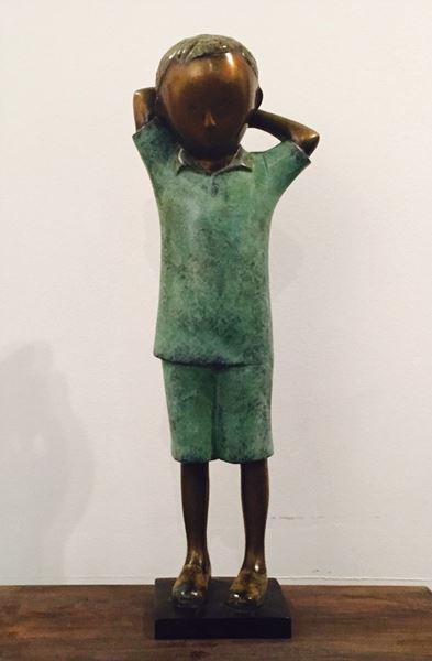 기지개, Bronz, 24x14x82.5cm, 2015