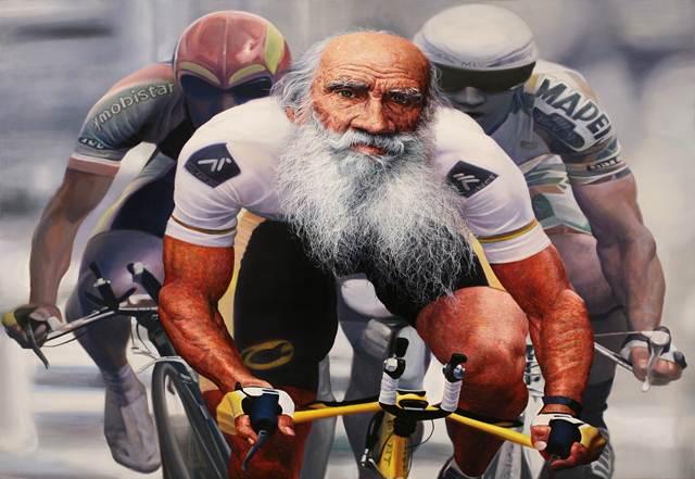 김경렬_Racing - Tolstoy_Oil on canvas_91 x 116.8cm_2011