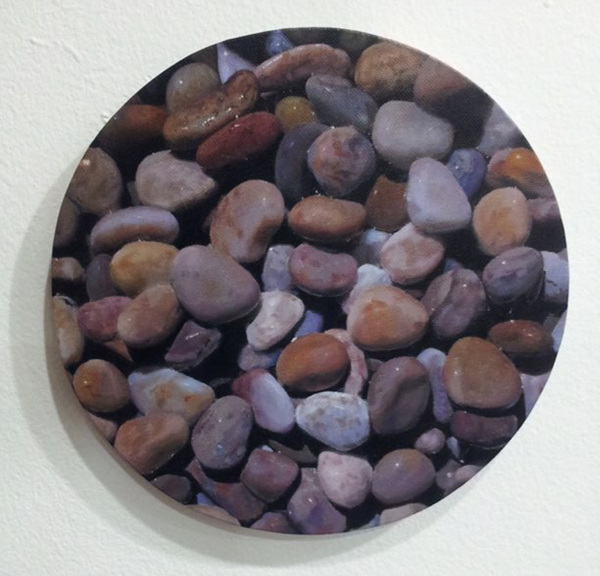 Dream of the pebble, oil on canvas, 20.6cm, 2015