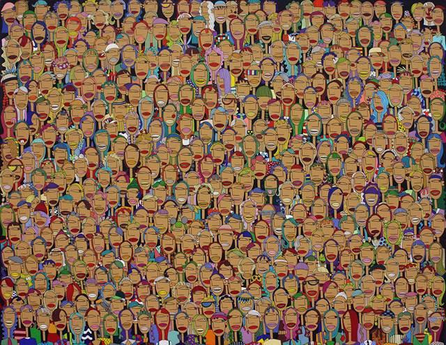 김정미_군중 18_Acrylic on canvas_112.1 x 145.5cm_2012