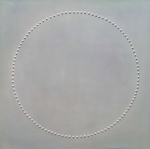 a circle, Oil, Pigment, 100x100 cm, 2002