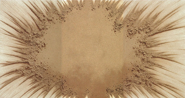 KIM ChangYoung_Sand Play 9609-L_Oil on Sand & Canvas_200x375cm_1996