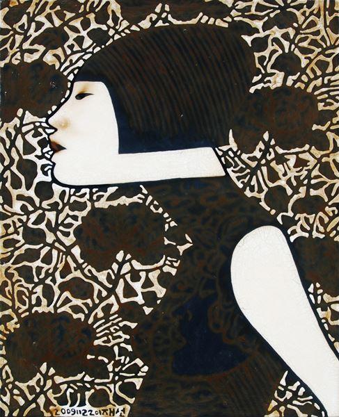 01.jae sun lee_untitled_2009_paint and varnish on cloth_80x65cm
