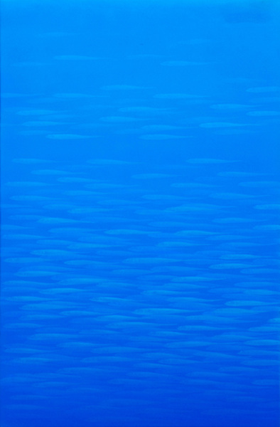 Lifish(blue), mixed media, 46x70cm, 2009