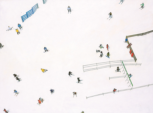 Ski Resort, oil on canvas, 97x130cm, 2006