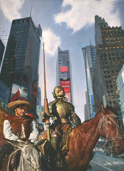 DonQuixote in the City, Oil on canvas, 72.7x53cm, 2014