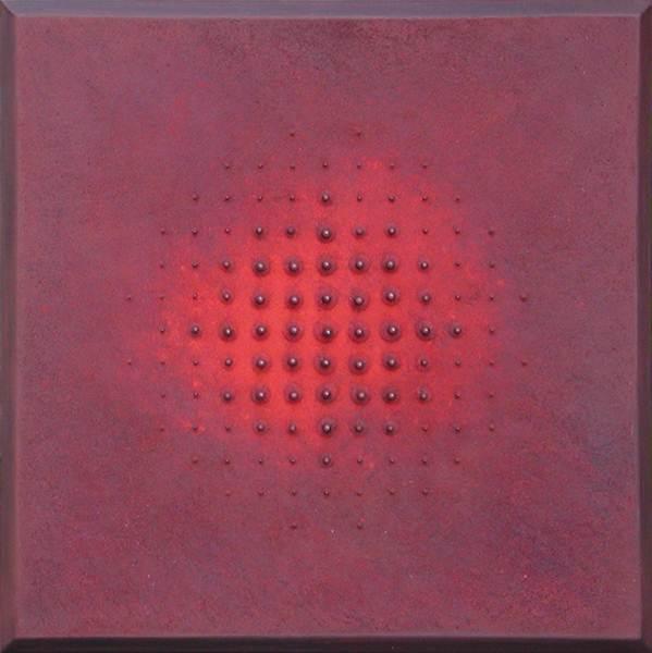 Chan il Kim_DOTS_40x40cm_ Oil, pigment on canvas_2005