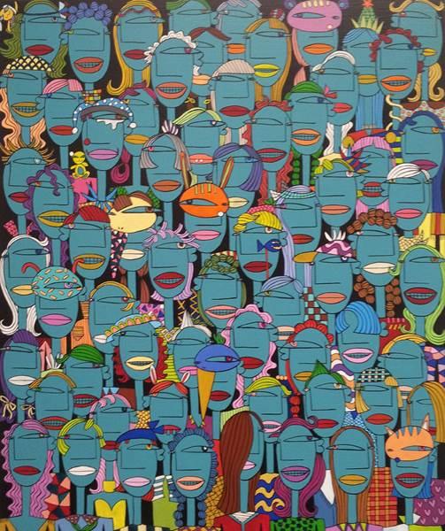 Jung mi Kim_Crowd 31_72.7x60.6cm_Acrylic on canvas_2012