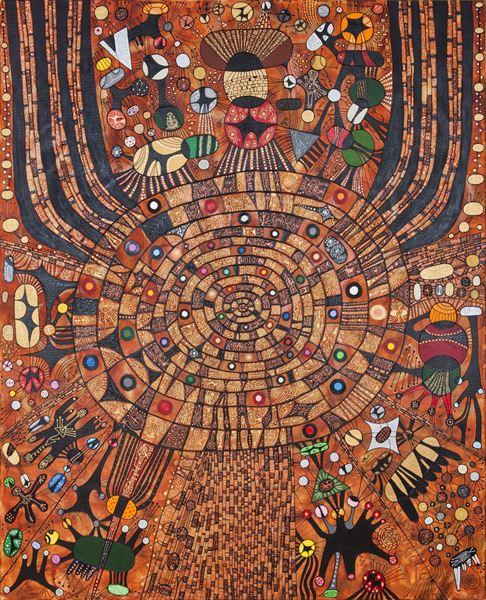Multi universe, Mixed media on Canvas, 162x130cm, 2012