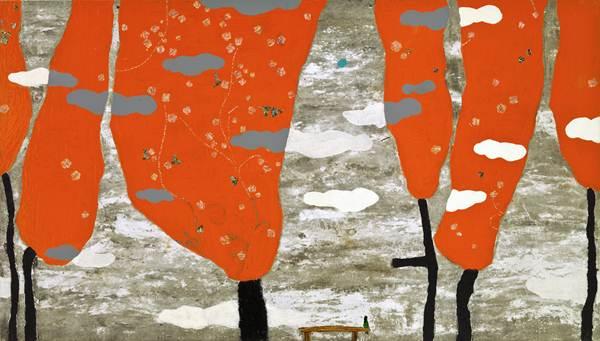 Gyoung suk Chang_가을 기억_Mixed Media on Canvas_137x78.5cm_2012