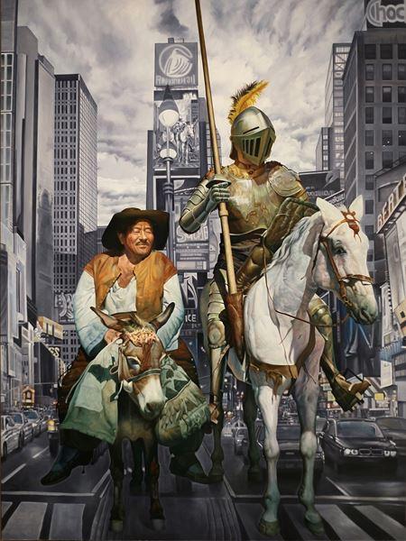 Don Quixote in the City #120, 259.1x193cm, 2014