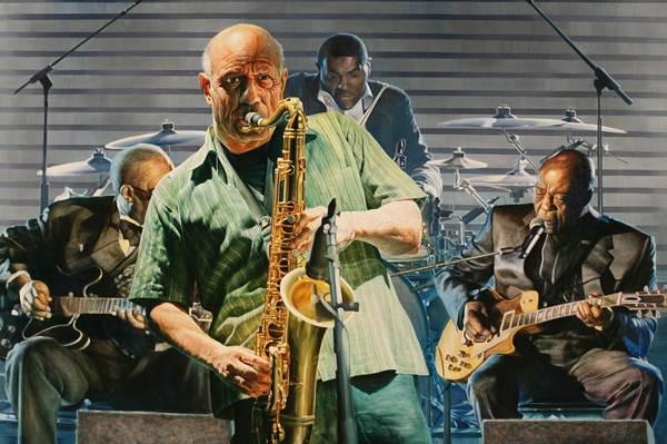 Kyong yeoul Kim_Einsteins jazz_Oil on Canvas_162.2x130.3cm_2013
