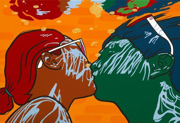 kiss, acrylic_on_canvas, 112x162cm, 2014