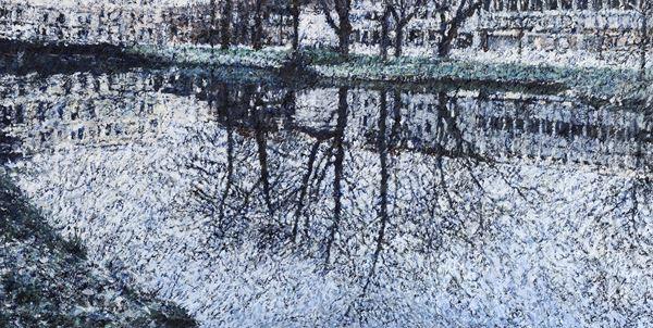 흩날리다, acrylic on canvas, 60.6x120cm, 2013