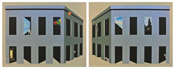 a dorderline between, acrylic on canvas, 91x235cm, 2013
