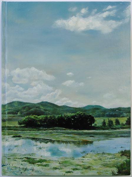책(The Book)1, oil on book, 30.3x22.3cm, 2013