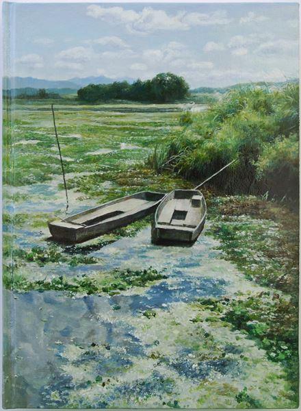 책(The Book)2, oil on book, 30.3x22.3cm, 2013