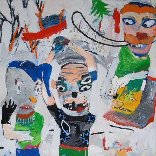 STARSKY BRINES_Our madhouse_134x134cm_Acrylic&Oil on Canvas_2012
