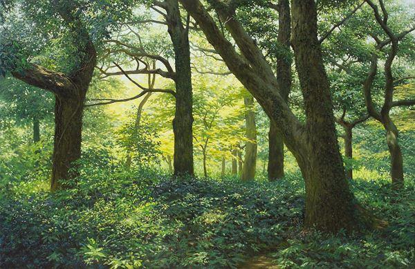고요한 숲(Silent Woods)_65.2×100cm_Oil on Canvas_2012