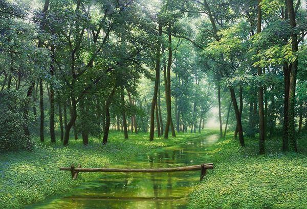고요한 숲(Silent Woods)_80.3×116.7cm_Oil on Canvas_2013