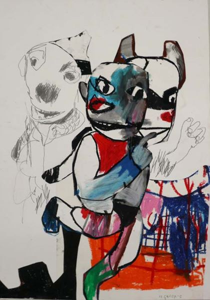 Some It takes time, hopefully they please_70x 50 cm_ Mixed media_2011