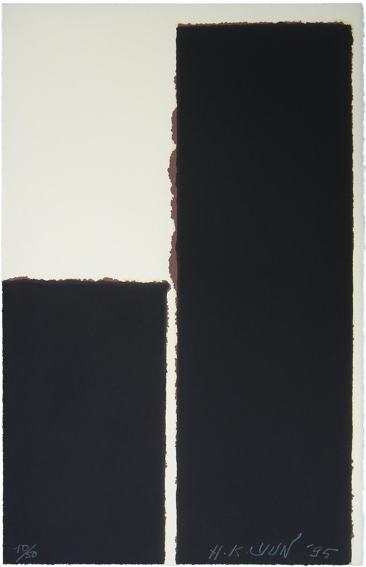 YUN HyongKeun_Burnt Umber_Lithograph_75x49cm_Ed.50_1995_300만원
