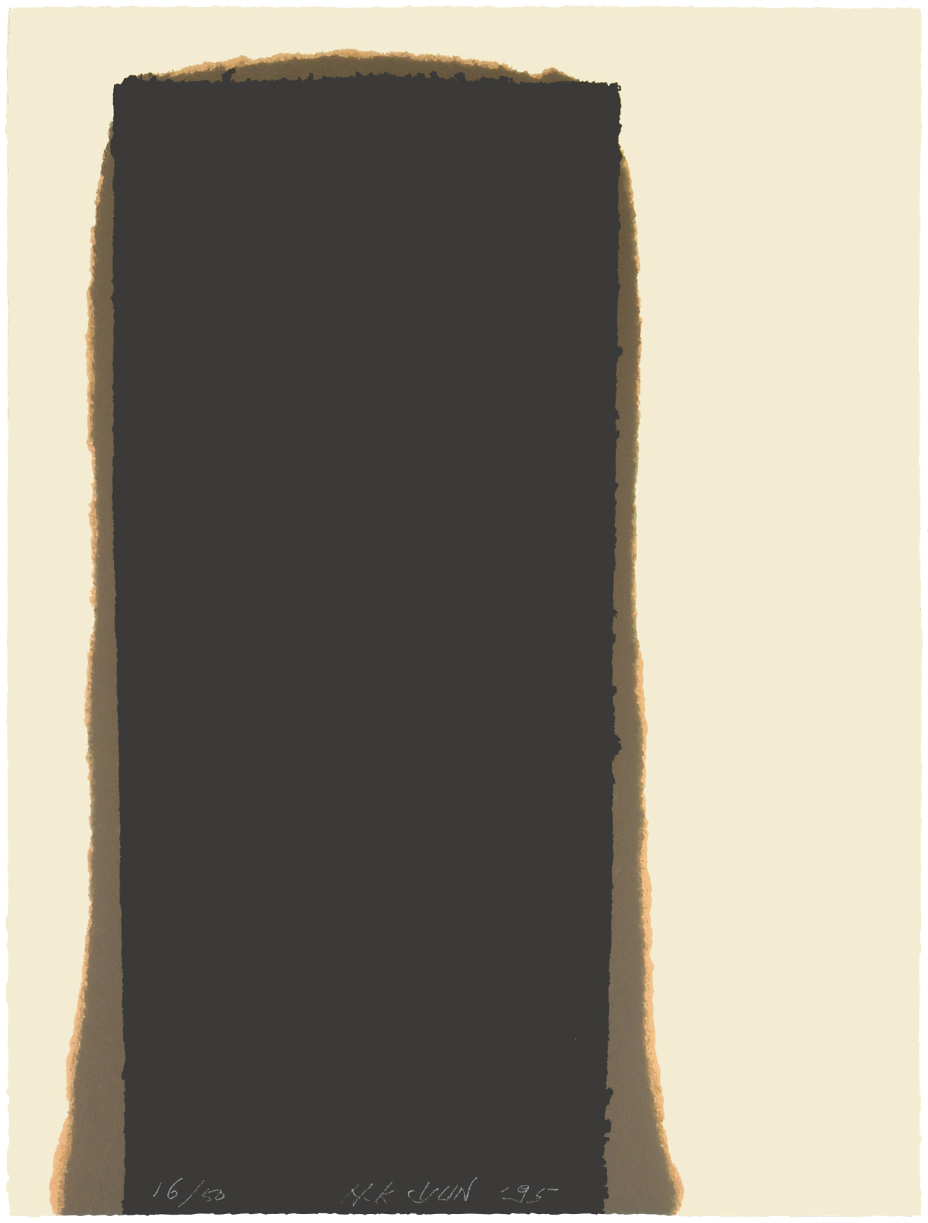 YUN HyongKeun_Burnt Umber_Lithograph_75x56cm_Ed.50_1995