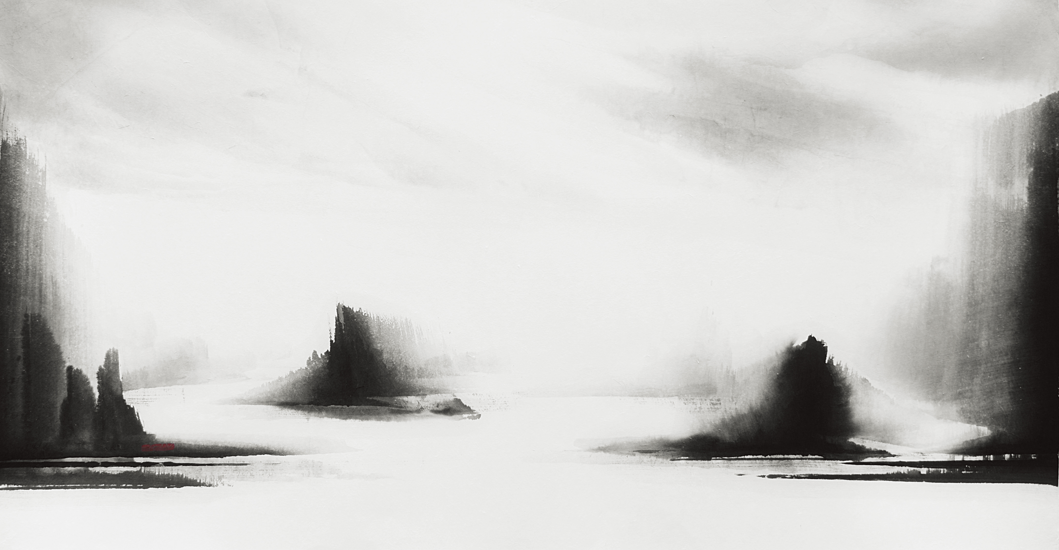 HONG Purume_At This Moment_Ink on Paper_88x160cm_2018