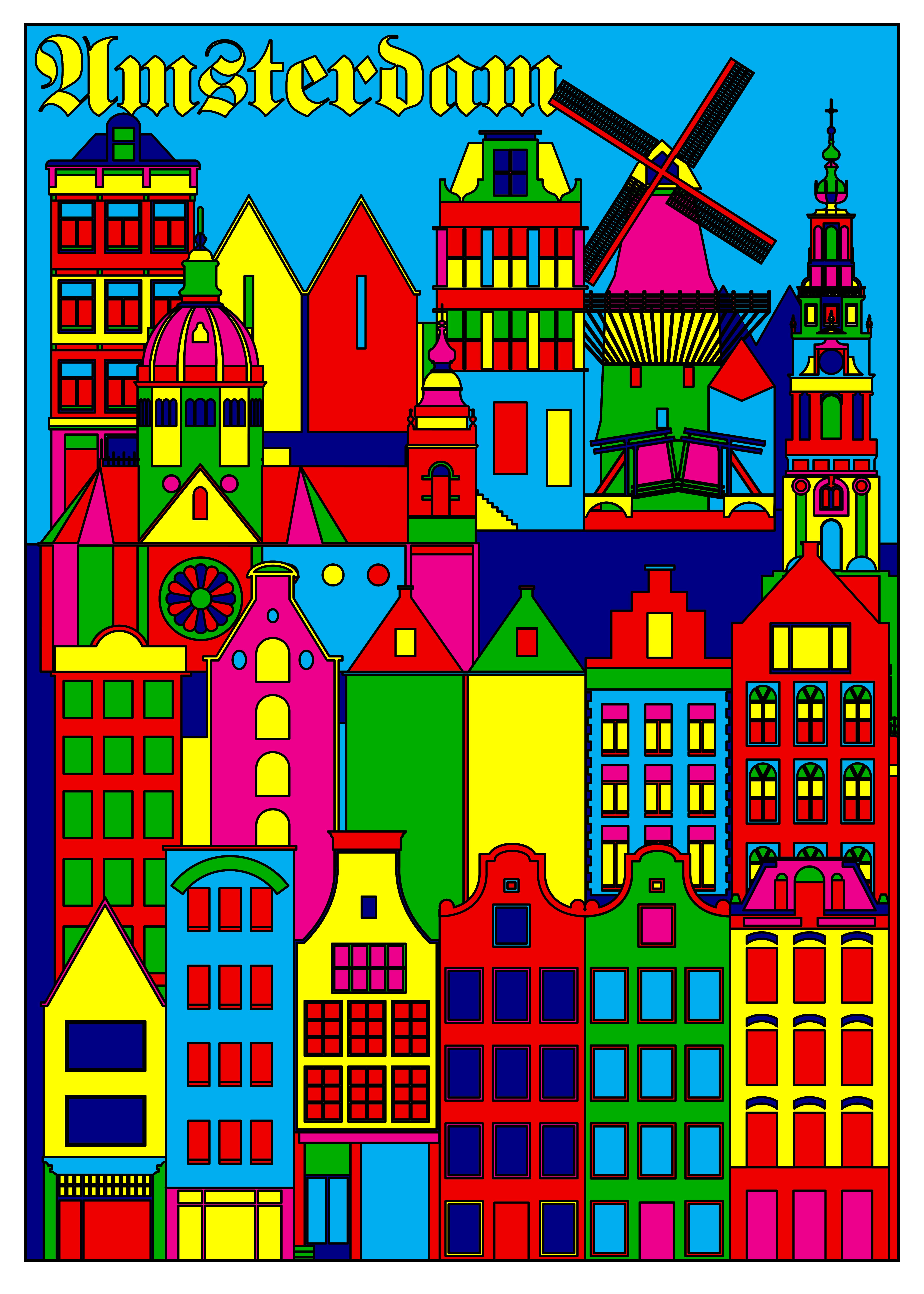 Steven WILSON_Amsterdam_Screen Print_Ed.10_70x50cm_2018_120만원