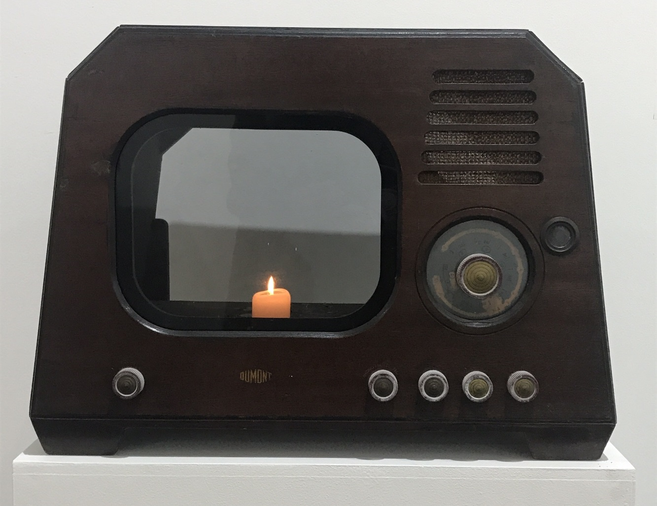 NameJune PAIK_TV Candle_Mixed Meda_60x51x44cm_1996