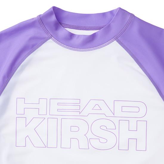 헤드(HEAD) [HEAD X KIRSH] 여성 체리 래글런 배색 래시가드_JOQJM18906PPL