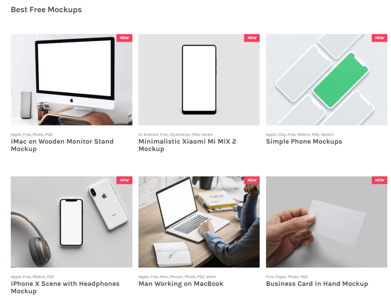 [세상의 모든 서비스] 고퀄리티의 디자인 목업을 무료로 다운 받을 수 있는 'DESIGN MOCKUP CLUB'