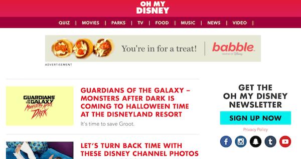 콘텐츠 마케팅 사례 오마이 디즈니 광고
