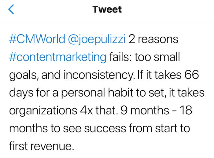 콘텐츠 마케팅을 잘 하는 법. 목표는 크게, 시간은 길게