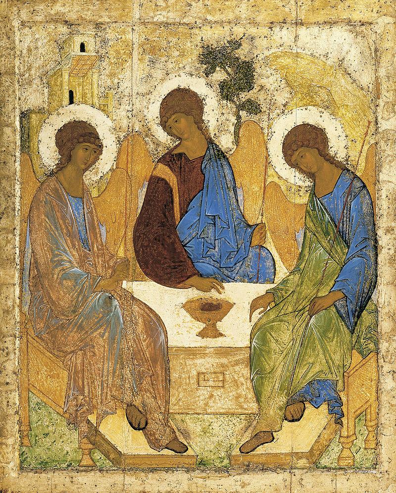 삼위일체 아이콘-아브라함을 찾아간 세 천사