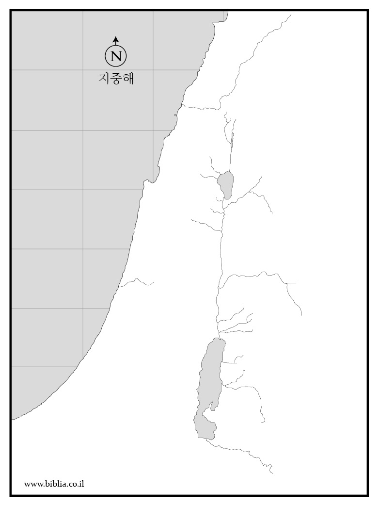 이스라엘 지도 Pre-Map