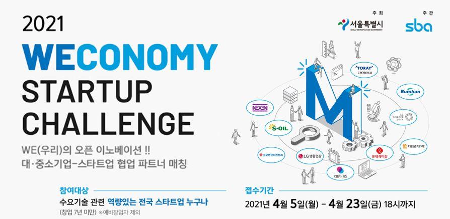 Weconomy Startup Challenge 스타트업 모집